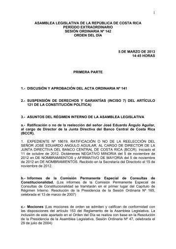 2012-2013-plenario-sesión-142 - Asamblea Legislativa
