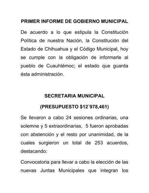 Administración 2010-2013 - Municipio de Cuauhtemoc