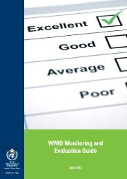 WMO Monitoring and Evaluation Guide - E-Library - WMO