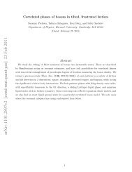Correlated phases of bosons in tilted, frustrated lattices - Harvard ...