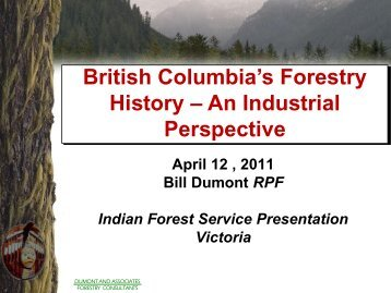 An Industrial - Canadian Institute of Forestry