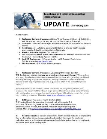 Download February 2005 newsletter - APS Member Groups