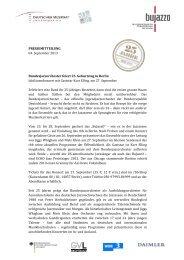 Bundesjazzorchester feiert 25. Geburtstag in Berlin - BuJazzO