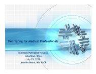 Debriefing for Medical Professionals
