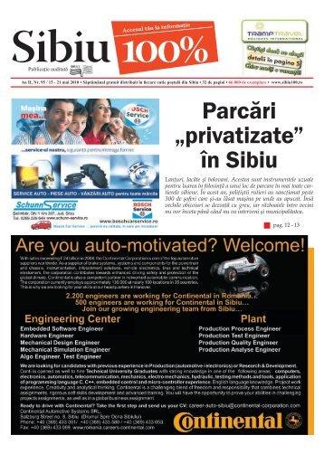 """Parcări """"privatizate"""" în Sibiu - Sibiu 100"""
