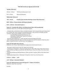 TPSA 2013 Conference Agenda (1/3/13 Draft) - The Pesticide ...