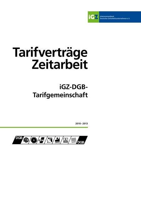 igz dgb tarifvertrag 2020