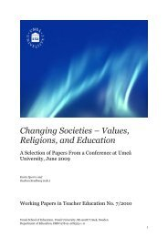 Changing Societies – Values, Religions, and ... - Umeå universitet