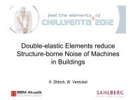 Double-elastic Elements reduce Structure-borne Noise of Machines ...