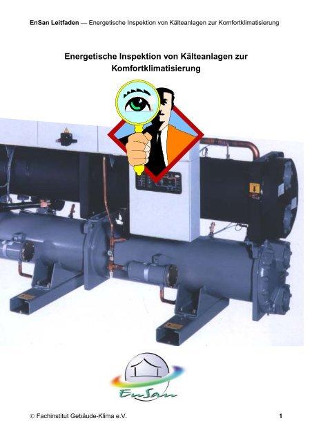 Energetische Inspektion von Kälteanlagen zur ... - EnSan