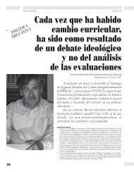 Cada vez que ha habido cambio curricular, ha ... - Revista Docencia
