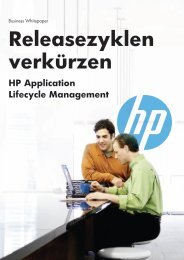 Release-Zyklen verkürzen mit HP Application Lifecycle Management