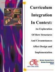 Curriculum Integration In Context: - Teachers College of San Joaquin
