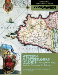 Western Mediterranean Islands - Columbia Alumni Association