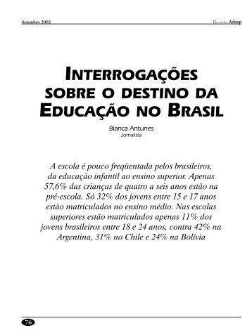 interrogações sobre o destino da educação no brasil - Adusp