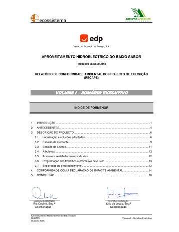 volume i volume i – sumário executivo sumário executivo ... - EDP