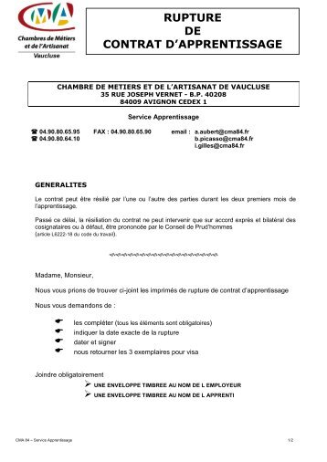 CHAMBRE DE METIERS DE VAUCLUSE - Chambre de Métiers et ...
