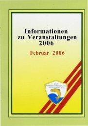 Informationen zu Veranstaltungen 2006 - KAV Potsdam - Land eV