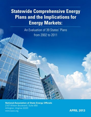 Statewide Comprehensive Energy Plans and the Implications for ...