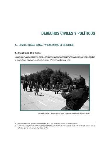 III. Derechos civiles y políticos - Coordinadora Nacional de ...