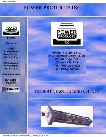 Power Products Inc. - Automatisation Pneumac Inc.