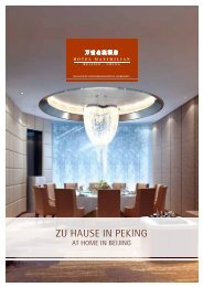 ZU HAUSE in PEKinG - Steigenberger Hotels and Resorts