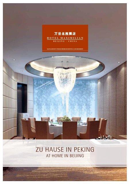 ZU HAUSE in PEKinG - Steigenberger Hotels and Resorts