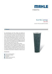 Dust filter cartridge 120 XK - MAHLE Industry - Filtration