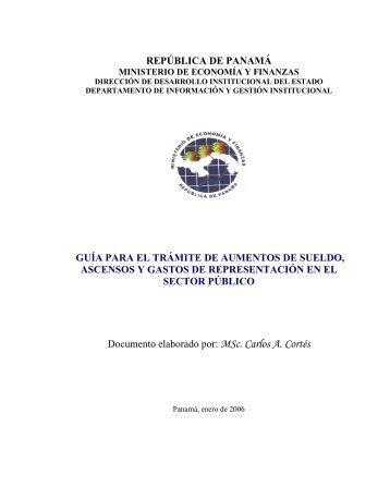 Trámite de Aumentos de Sueldo, Ascensos y Gastos - Ministerio de ...