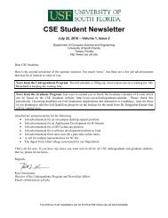 CSE Student Newsletter - Department of Computer Science and ...