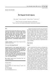 İki lingual tiroid olgusu - Tıp Araştırmaları Dergisi