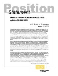 Innovation in Nursing Education: A Call to Reform - National League ...