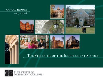 Annual Report 2007-2008 - The Council of Independent Colleges