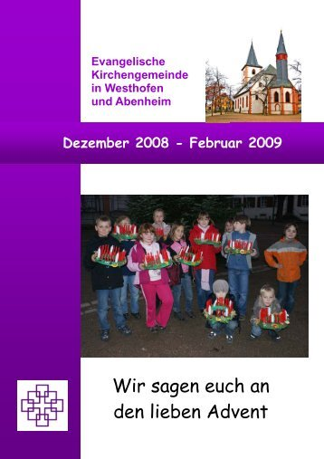 Wir sagen - Evangelische Kirchengemeinde Westhofen und Abenheim