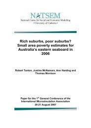 Rich suburbs, poor suburbs? Small area poverty estimates for ...