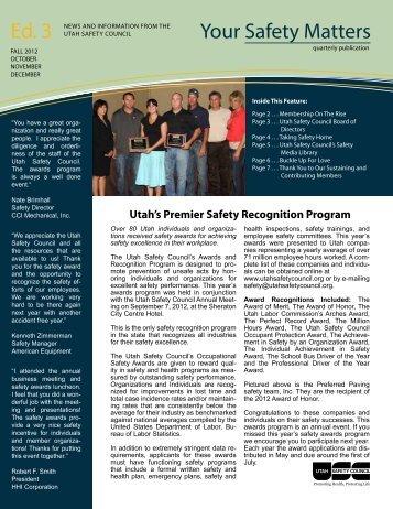 Fall 2012 - Utah Safety Council
