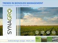 trends in biosolids management - Michigan Water Environment ...