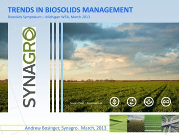 trends in biosolids management - Michigan Water Environment ...