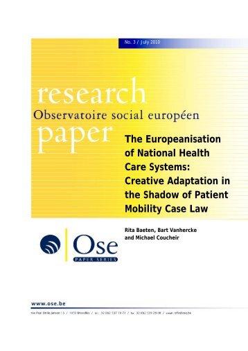 Paper - Observatoire social européen