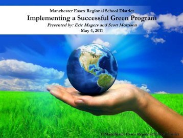 Implementing a Successful Green School Program - NERC