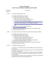 Grant Application Guidelines - College of Education