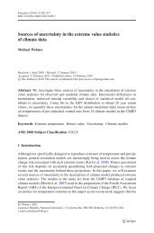 Sources of uncertainty in the extreme value statistics of climate data