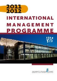 programme - University College Ghent