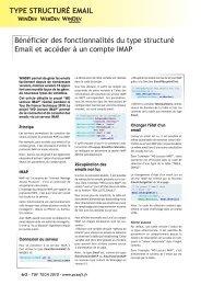 Bénéficier des fonctionnalités du type structuré Email et accéder à ...