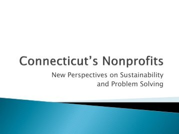 New Perspectives on Sustainability and Problem Solving