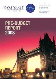 PRE-BUDGET REPORT 2008