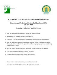 center for teacher preparation and partnerships - New Jersey City ...