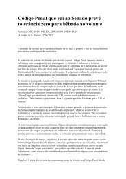 Código Penal que vai ao Senado prevê tolerância ... - Fecomercio