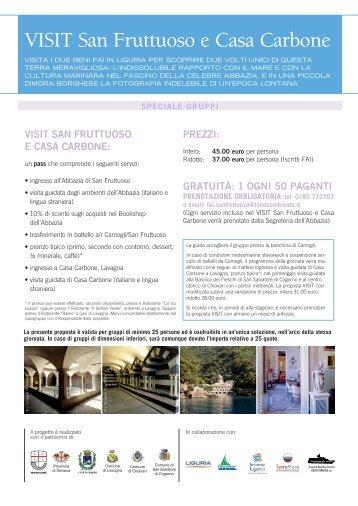 VISIT San Fruttuoso e Casa Carbone - Fai