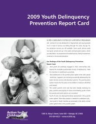 2009 Youth delinquency prevention report card - National Juvenile ...